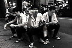 IMG_0403 (luke.seow4) Tags: street blackandwhite travel streetphotography smoking cigarettes portrait environmental portraiture bangkok thailand people