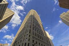 Detroit Sky (DJ Wolfman) Tags: detroit detroitmichigan detroitmi detroitarchitecture michigan michiganfavorites sky blue bluesky skyline skyscrapers metro architecture sony a7markii 1635f4sony clouds