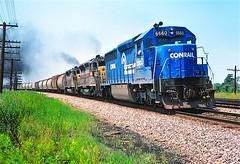 CR 6660                         7-79 (C E Turley) Tags: railway conrail sd452 sdp45 el