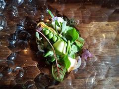 Vegetables Warmed with Goat's Butter with Beet Vinaigrette (Barry Wallis) Tags: maude dinner winepairing prixfixe peas greens radish beet beverlyhills california usa