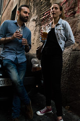 all roads lead to Rome 14/33 (Giorgos Voulgaris) Tags: nikon d5300 color candid rome street streetphotography couple drinking beer outdoors