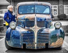 "1946 Dodge pickup ""rat rod"" (kenmojr) Tags: car auto automobile vehicle transportation classic antique vintage halifax jasnow funeral novascotia claytonpark maritimes maritimeprovinces atlantic atlanticprovinces canada easterncanada carshow june 2018 1946 dodge pickup ratrod billskinner"