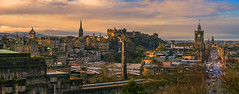 Great city view of Edinburgh from Calton Hill (autrant) Tags: edinburgh castle calton hill city sunset sky cloud bridge house building oldtown scotland uk stgilescathedral caltonhill street princesst 爱丁堡 苏格兰 城堡 城市 街道 天空 英国 教堂 建筑 古城