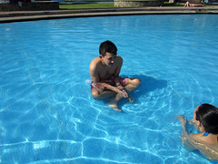 Gera Ready for Story Time (HitnRunTony) Tags: ebe gera a pool water geraa