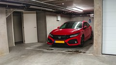 Gimme Shelter III, Westende, 20180502 (G · RTM) Tags: middelkerke vlaanderen belgium be hondacivic parking garage shelter