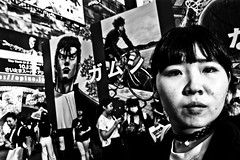 Shibuya Moments..... (Victor Borst) Tags: street streetphotography streetlife reallife real realpeople asia asian asians faces face candid travel travelling trip urban urbanroots urbanjungle shibuyacrossing tokyo japan japanese girl woman lady female blackandwhite bw mono monotone monochrome city cityscape citylife fuji fujifilm xpro2 expression