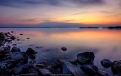 Almost midnight.. (Steinskog) Tags: norway askøy herdla summer sunset sea clouds water fujifilm longexposure