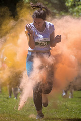 Not quite the fog of war! (Andy J Newman) Tags: nikon childrenshospicesouthwest d500 blaise children colour charity girl rainbow run bristol young blaisecastle rainbowrun colourrun color hospice fundraising england unitedkingdom gb