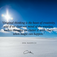 Ora Nadrich Quote - Clear the Mind (oranadrich) Tags: quote inspiration meditation mindfulness spirituality positivity health wellness awareness gratitude bepresent transformational iftt sayswhomethod