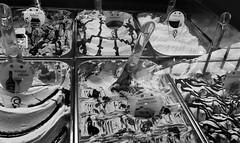 Wicked delights (Twila1313) Tags: gelato icecream sweets dessert carbs sugar snack mall food courtyard vendor treat monochrome blackandwhite panasoniclx7