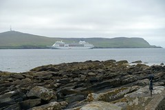Columbus anchored off Bressay (nz_willowherb) Tags: scotland shetland bressay anchored off columbus ship cruise island rocks lerwick