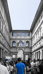 Galleria degli Uffizi (benedettap) Tags: florence italy toscana travel bew blue galleria degli uffizi