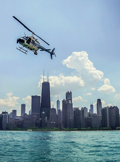 Chicago Memorial Day Weekend Skyline: Chicago Police Helicopter 🚁