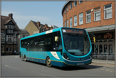 Arriva Midlands 3318 (Jason 87030) Tags: arriva turquoise midlands rugby warks warwickshire northst churchst street town x84 leicester hinckleybus service 2018 may summer color colour wheels bus wright streetlite fj64euf