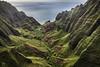 Kauai Heli Tour 26 - Honopū Valley (lycheng99) Tags: honopūvalley honopū kauai hawaii nāpalicoast nā pali nāpali helicopter maunaloahelicoptertours maunaloahelicopter travel aerialview aerial layers mountains volcanicrocks volcano valley canyon creek ocean coast