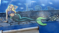 Coney Island Mermaid (edenpictures) Tags: coneyisland brooklyn newyorkcity nyc mermaid mural tomsconeyisland boardwalk