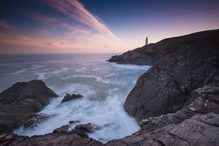 THE CONTRAIL AT TREVOSE HEAD LIGHTHOUSE