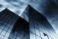 Bleu de Chezmoi (paul.porral) Tags: reflection urbanism architecture contrast flickr mirror blue fenêtre perpective window bâtiments buildings downtown sky longexposure poselongue urban skyscrapers darkness annecy france ngc