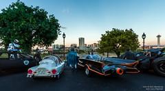 A Well Guarded City (Ken Hendricks and Larry Patchett) Tags: superhero murphy robocop shiromaki bruce batman amt ford taurussho scienceresearchinstitutededicatedvehicle kaiyodo tortoise batmobile tumbler 124scale diecast model car forcedperspective