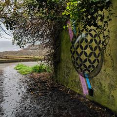Sod it Rick! (id-iom) Tags: aerosolpaint art arts ball black blue cool graffiti idiom moss paint paintmarker pink sphere spray spraypaint stencil street streetart stripe vandalism wall