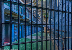 20171120_LANCASTER and WV_20171120-BFF_5061WV Penitentiary_HDR (Bonnie Forman-Franco) Tags: jail jailcell jailbed abandonedpenitentiary penitentiary westvirginia westvirginiapenitentiary westvirginiaprison moundsville abandoned abandonedphotography abandonedprison abandonedjailcellblock red blue green nikon nikonphotography photoladybon bonnie photography photographybywomen imprisoned lockup jailbars toilet hdr nonhdr