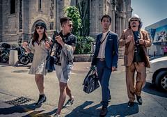 Cannes Film Fetival 2018 #5 (Franck_Michel) Tags: sun glasses badge desat walking street pavement cannes croisette bag shadow surprise