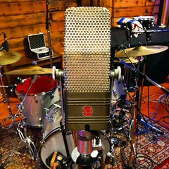Mic It (Pennan_Brae) Tags: mic vocals singing vintagemicrophone microphone drumset cymbals percussion music drummer drums recordingsession musicphotography musicproduction musicproducer recordingstudio recording musicstudio