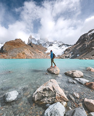 Patagonia (ThibaultPoriel) Tags: patagonia fitzroy argentine argentina nature wild man landscape mountain outdoor outdoors patagonie trek trekking laguna lagunadelostres rocks