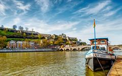 Citadelle  de Namur . (musette thierry) Tags: musette thierry d800 bateau eau citadelle namur belgique europe pont paysage vue balade