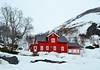 big red house (ekelly80) Tags: norway flåm may2018 spring train trainride flåmsbana sognogfjordane fjord mountains view snow aurland snowcovered red house town white snowy clouds foggy fog street