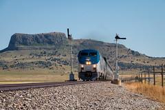 Amtrak #3 - Wagon Mound, NM (Wheelnrail) Tags: wagon mound new mexico semaphores blades amtrak amtk p42dc southwest chief train trains railroad railway rail road raton subdivision nm passenger