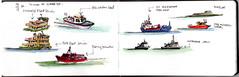 Morning - Sydney Harbour (panda1.grafix) Tags: ferry sydneyharbour sketch