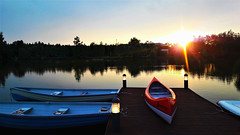Csónakok egy csendes nyári estén (Szombathely) (milankalman) Tags: boat lake water sunset evening summer sun