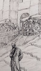 375/402 The hatred of the just (Psalm 69:12) drawing by James Tissot at the John Rylands Library file created by Phillip Medhurst (Phillip Medhurst) Tags: tissot jamestissot bible oldtestament jewishmuseumnewyork johnrylandslibrary psalm psalms bookofpsalms persecution phillipmedhurst