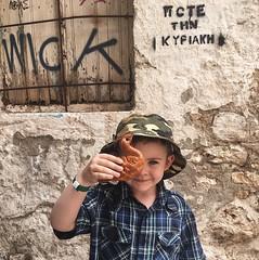 Swan bread in Crete (KnitBunny) Tags: crete greece rethymno mediterranian bread summer vacation