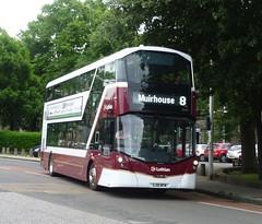 Lothian 1060 at Bellevue Crescent, Edinburgh. (calderwoodroy) Tags: eclipsegemini3 wrightbus b5tl volvo sj18nfm 1060 service8 edinburghtransport transportforedinburgh lothianbuses broughton doubledecker bus bellevuecrescent bellevue edinburgh scotland