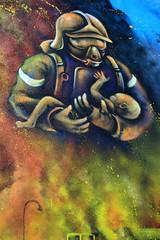 Street Art, port de commerce de Kergroise à Lorient (Bretagne, Morbihan, France) (bobroy20) Tags: lorient bretagne ville city morbihan dessin tag streetart art artiste france