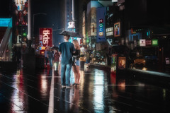 Hot Summer Nights (justenoughfocus) Tags: newyork newyorkcity sonyalpha cityscape manhattan night nightlife nightphotography nyc skylum streetphotography timessquare unitedstates urban urbanexploration urbex locations us