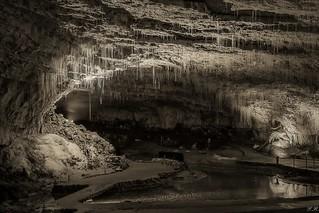 Grotte de Choranche en n&b