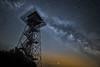 Sternenflug (SonjaS.) Tags: sternenflug milchstrase milky way nacht dunkel sterne star tower turm schwäbische alb deutschland germany sternenpark sonja sayer silhouette dark