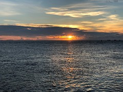 Sunset at sea (BiggestWoo) Tags: china south asia clouds cloud sun sky sunset ocean sea bintulu malaysia