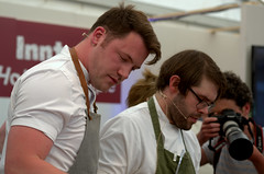 Chef Tommy Banks at Malton Food Festival 2018 (Tony Worrall) Tags: add tag ©2018tonyworrall images photos photograff things uk england food foodie grub eat eaten taste tasty cook cooked iatethis foodporn foodpictures picturesoffood dish dishes menu plate plated made ingrediants nice flavour foodophile x yummy make tasted meal nutritional freshtaste foodstuff cuisine nourishment nutriments provisions ration refreshment store sustenance fare foodstuffs meals snacks bites chow cookery diet eatable fodder malton yorkshirefoodloversfestivalinmalton yorkshire lovers festival maltonfoodlovers tommybanks demo theblackswan chef celeb man stage event