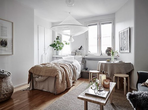 Furniture  - Bedrooms : my scandinavian home: A beautiful, Small Swedish Home in Neutrals