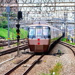 Odakyu Romance car EXE (Odakyu 30000 form train) at Shinyurigaoka station : 小田急ロマンスカー EXE(新百合ヶ丘駅) thumbnail