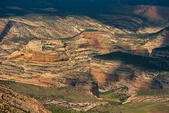 Light and Shadow (William Horton Photography) Tags: canyonoverlook coloradoplateau dinosaurnationalmonument greenriver harperscornerroad steamboatrock utah vernal webersandstone geology horizontal