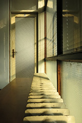 Structure details (LukaBoban) Tags: old buildings glass lines pattern texture form material wc warm