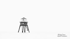 Dovercourt re-visited (Nigel Jones QGPP) Tags: dovercourt harwich england lighthouse minimalist landscape seascape mono blackandwhite sea historic