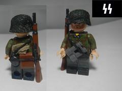 SS Oak Leaf soldier. (krutoclassnie raboty) Tags: ss lego soldier 1944 nazi german brickarms custom brick ww2 world war 2 oak leaf camo