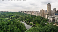 Central Park and Fifth Avenue (20180613-DSC08117) (Michael.Lee.Pics.NYC) Tags: newyork centralpark fifthavenue pond gapstowbridge architecture cityscape park aerial hotelwithview parklanehotel sony a7rm2 voigtlanderheliar15mmf45 grandarmyplaza wingedvictory wollmanrink pierrehotel centralparkzoo