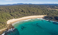 From the forest to the sea (OzzRod) Tags: dji phantom3a fc300s quadcopter drone aerial oblique seascape shoreline beach bay headland forest barraggabay nsw